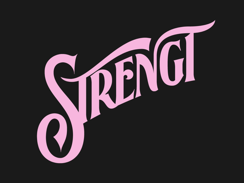 Strength type hand lettering lettering typography the smiths strength
