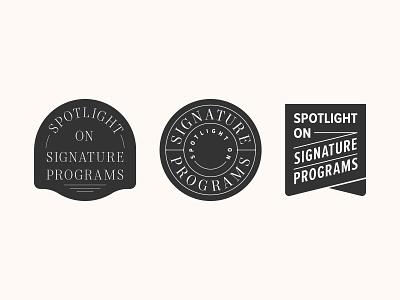Badges proxima nova mort modern spotlight badge design badge