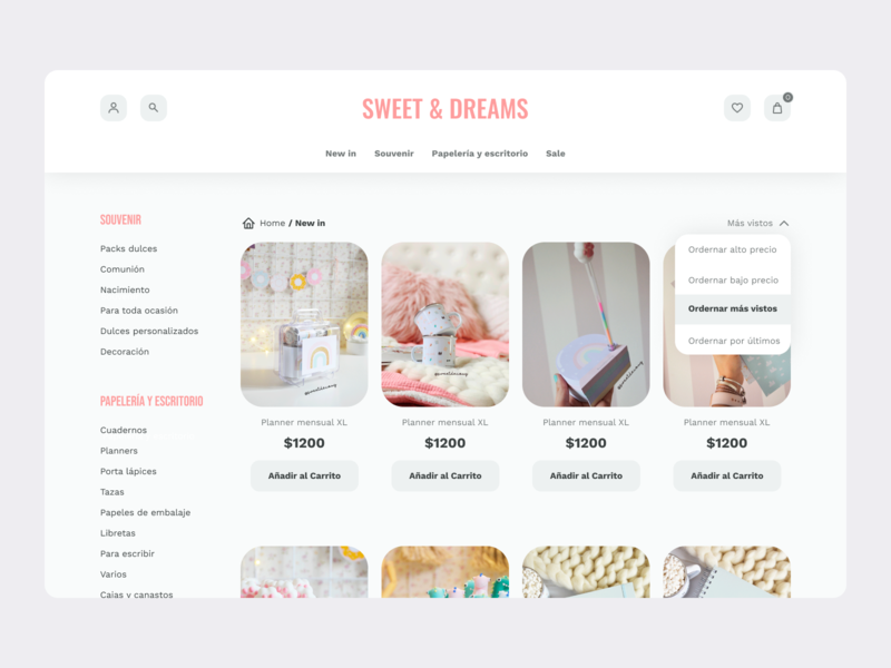Layout products ecommerce eccomerce design ux ui uiuxdesign