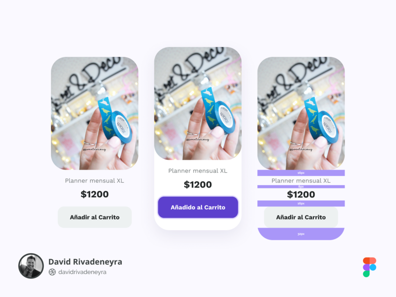 Card design with sizes eccomerce padding paddings cards sizecard sizes card design card design ux ui uiuxdesign