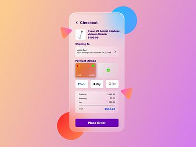 Daily UI #2 - Credit Card Checkout design 100 days of ui daily ui interface design glassmorphism payment checkout credit card ui design