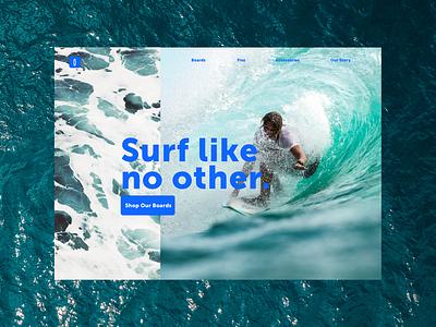 Daily UI #3 - Landing Page web design surfing surf aesthetic web design minimal ui design ui interface design daily ui 100 days of ui