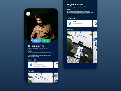Daily UI #6 - User Profile digital design web design social media connect app web vector ui design ui interface design aesthetic design daily ui 100 days of ui minimal
