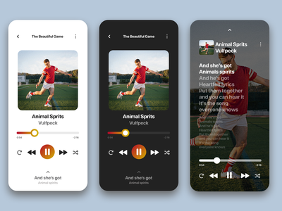 Daily UI #9 - Music Player vulfpeck lyrics music player music digital design ui aesthetic ui design interface design design daily ui 100 days of ui minimal