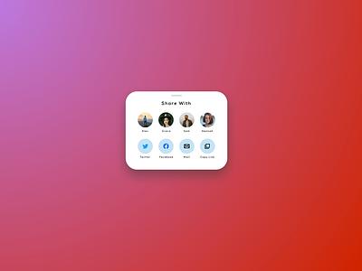 Daily UI #10 - Social Share logo ui digital design aesthetic ui design interface design design daily ui 100 days of ui minimal