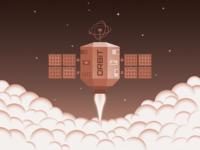 Satellites heading to orbit