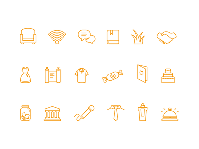 Whitney Icons 2 conversation sound chair money wifi nature vector simple icon icons
