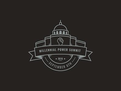MPS Logo vintage crest seal building government power summit logo badge