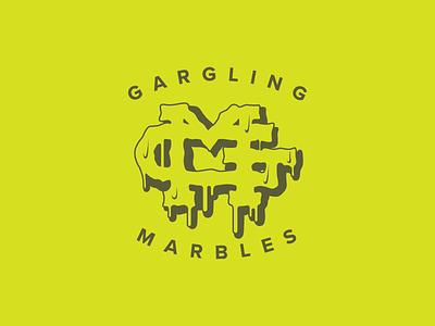 GM Logo horror marbles gm letters monogram drips puke gross spit slime logo
