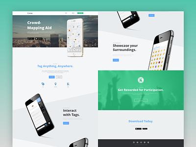 Kricket Splash Page green minimal app ui city web design web phone splash