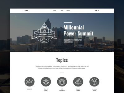MPS Landing Page desktop sky type government city badge icons ui page landing web