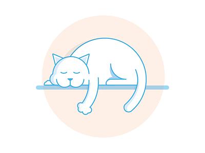 Happy Friday  animal tired zzz fluffy warm happy checkmate illustration sleeping cat kitty