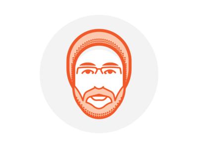 Self Portrait dots minimal portrait glasses hat logo icon branding personal self