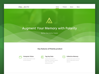 Polarity triangle checkmate navigation icons waves abstract green ui desktop design web