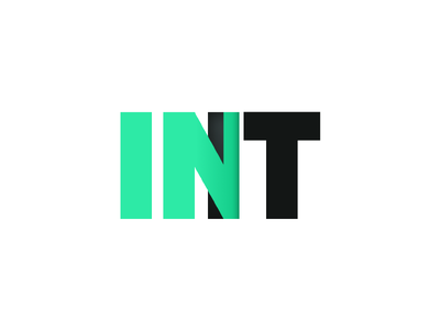 In It - Logo Concept 1 type dimension enter door inside typography green it in logo ar vr