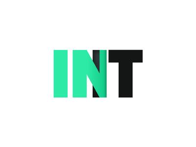 In It - Logo Concept 1 type dimension enter door inside typography green it in logo ar vr