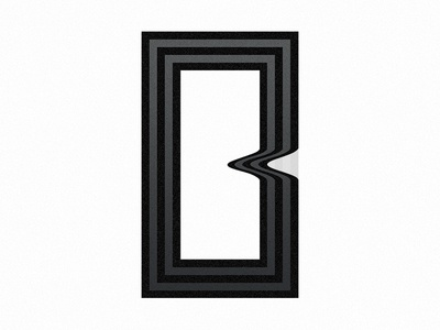 36 Days of Type - B rectangle abstract art b lettering letter typography type 36ays 36daysoftype