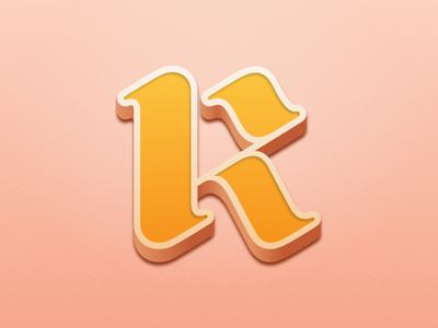 K minimal art sketch k typography type lettering letter