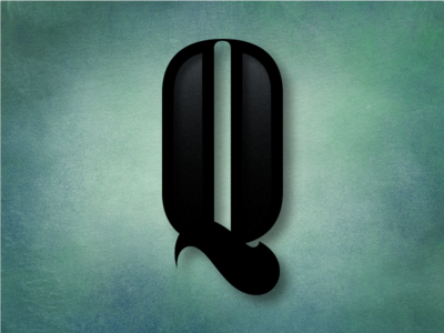 Q 36daysoftype 36days green subtle texture leather photoshop typography type art lettering q