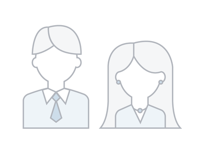Man and Women Icons for Landing