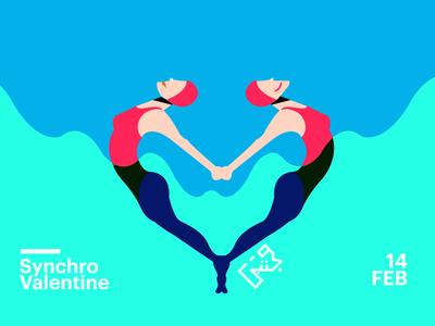 Synchronized Swimming Valentine