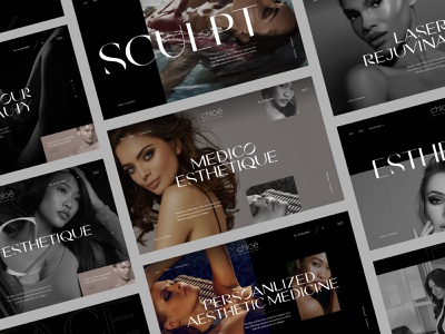 Cosmetic surgery site cosmetic surgery beauty fashiion sketch web design website ui landing page hero