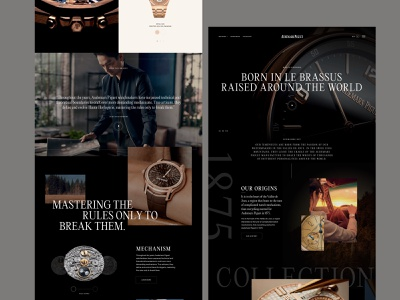 Watch landing page homepage landing page xd sketch web design website ecommerce fashion watches