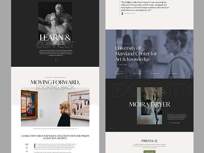 Art Gallery Homepage website typography gallery art landingpage landing page homepage ux ui sketch web design