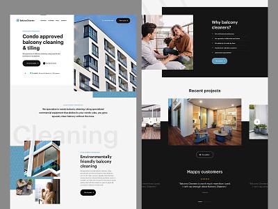 Landing page navigation typogrpahy sketch ux ui homepage web design website