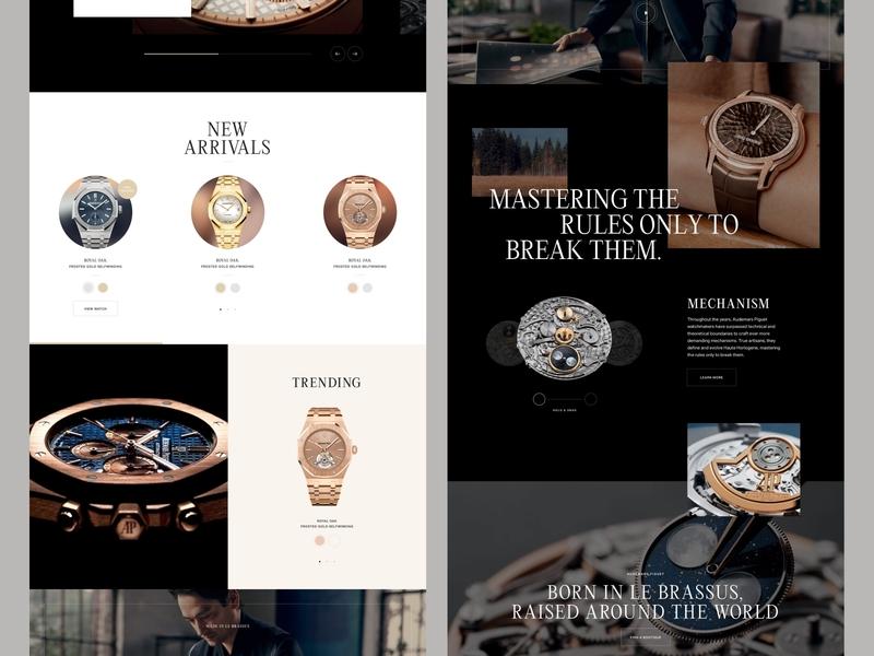 Watch website concept product shop eccomerce watches watch sketch ux ui website web design