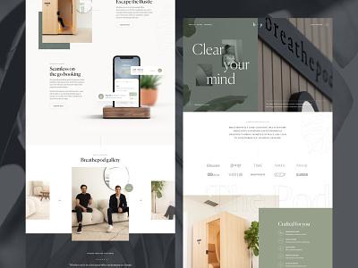 Meditation app landing page homepage landing page sektch ui website web design meditation