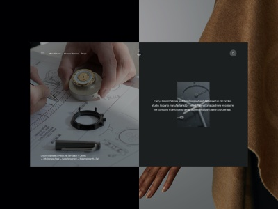 Uniform Wares concepts ecommerce product page product time watches watch homepage typogrpahy web design landing page