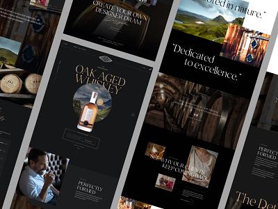 Designer Dram typography sketch ui ux landing page homepage webdesign whiskey whisky
