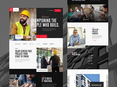 Construction website ui ux branding sketch navigation web design website homepage construction
