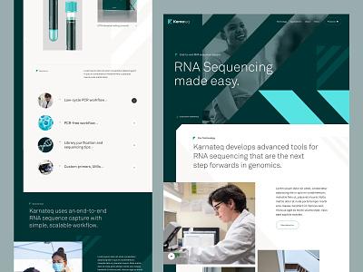 Scientific Research Landing Page hero science web design sketch ux ui website homepage landing page