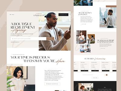 Recruitment Landing Page desktop sketch web design landing page homepage jobs ux ui website webdesign