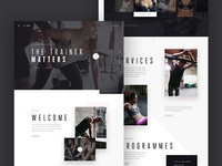 Gym landing page concept
