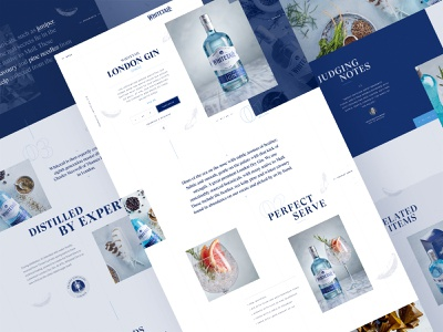 Gin Website alcohol ecommerce typography gin navigation design landing page ux ui website product