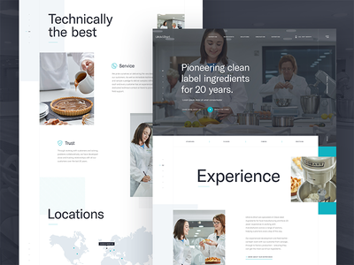 Landing page concept hero science food typogrpahy navigation landing page ux ui website