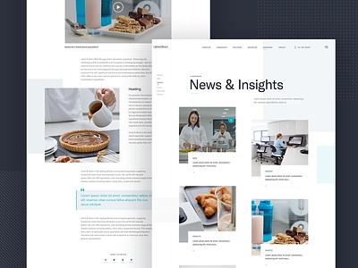 Blog pages website design ux ui food navigation blog