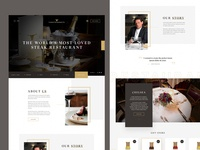 Restaurant homepage concept