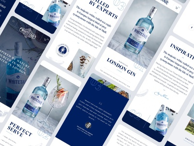 Mobile screens alcohol gin app typography sketch ux ui website webdesign mobile