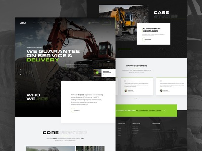 Landing page construction typography sketch ux ui website web design landing page homepage
