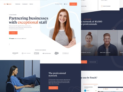Recruitment Homepage xd sketch typogrpahy ux ui recruitment website web design landing page homepage