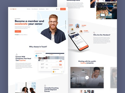 Landing page iphone typogrpahy sketch recruitment ux ui homepage website web design landing page