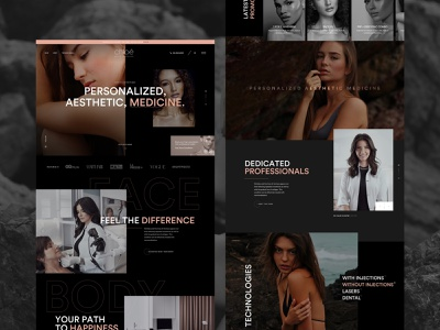 Cosmetic surgery website landing page cosmetic beauty ui ux typography sketch web design website homepage
