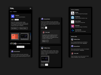 TDL Resources dark app dark mode dark minimal app design website app appdesign ux ui