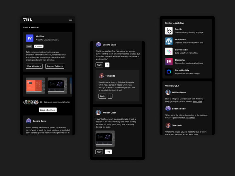 TDL Resources dark app dark mode dark minimal app design website app appdesign ux ui