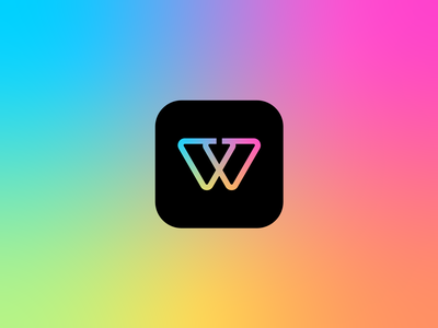 W + Pull Monogram identity app gradient branding mark brand vector logo monogram