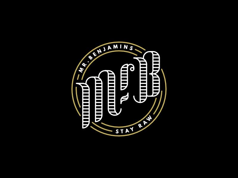Mr.B branding detailed simple clean lettering ornate logo monogram classic
